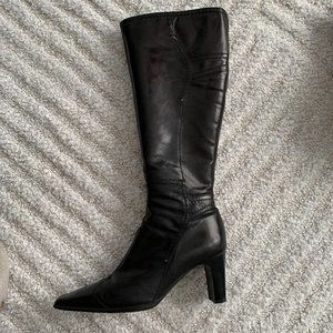 Leather Knee High Boots, 36